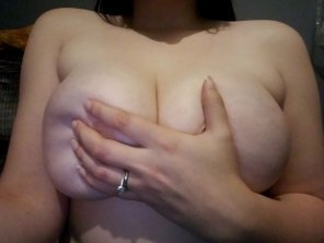 amateur photo Hand bra... I might need to go up a size.