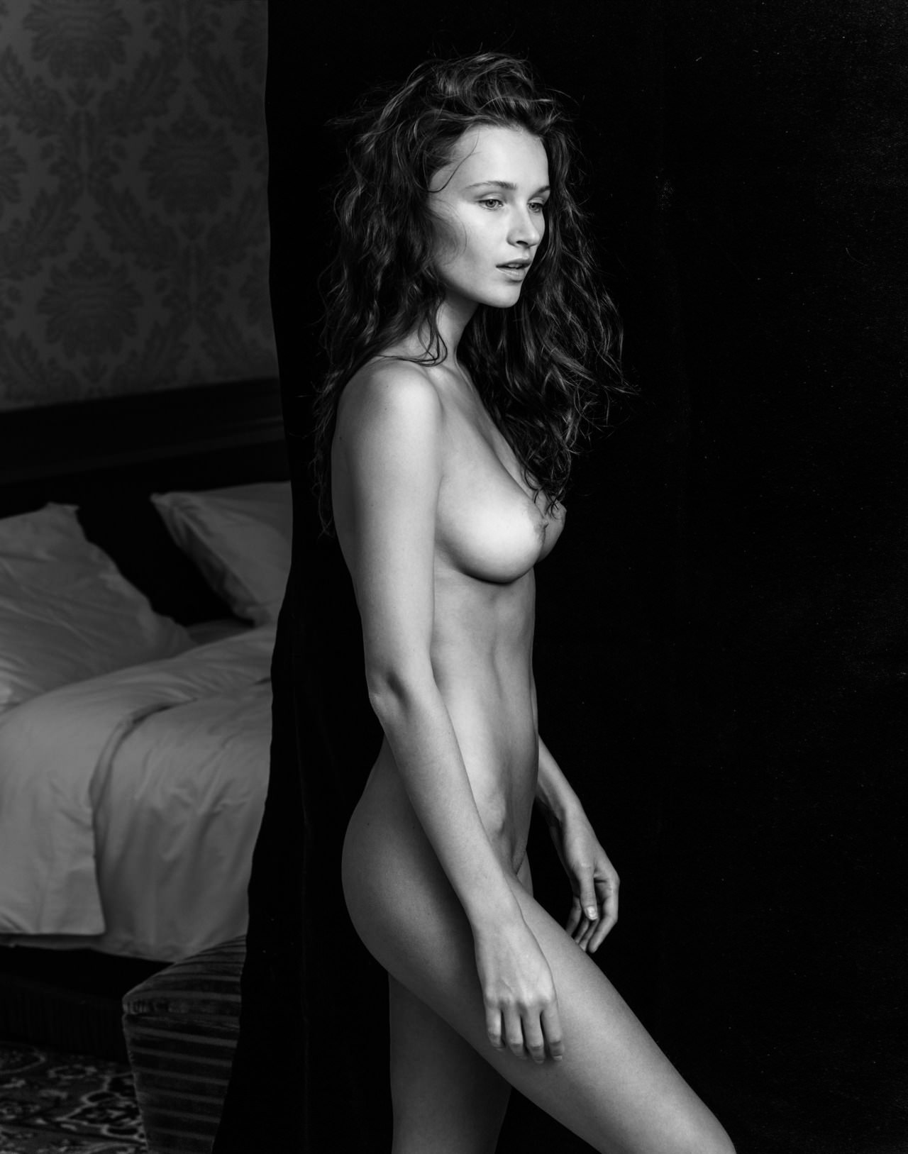 Naked black photograpy white once and