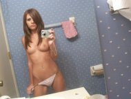 amateur photo One-eyed brunette