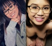 Cute Asian With Glasses