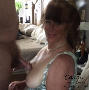 amateur photo Mama sucks cock, its what she does!