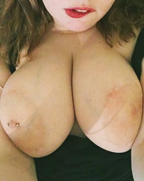 amateur photo I got kinda dumped tonight for another girl so here's my tits lmao