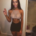 amateur photo Wool fishnet top