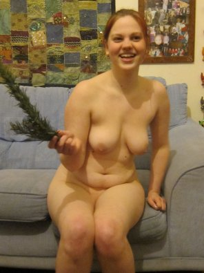 amateur photo Real girl on the couch