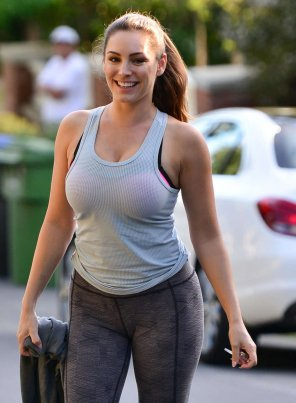 amateur photo Kelly Brook out for a jog
