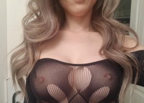 amateur photo New off the shoulder bodysuit :) ps. they're crotchless too