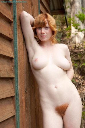 amateur photo Hairy ginger in nature