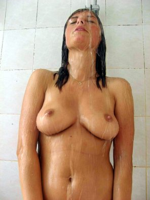 amateur photo Enjoying the shower
