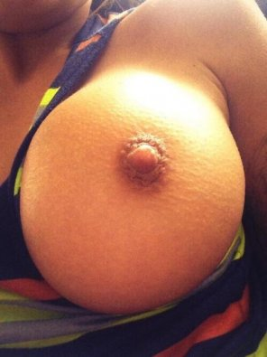 amateur photo Perfectly round with a nipple to match