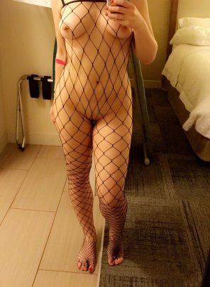 amateur photo Original ContentPierced in fishnets