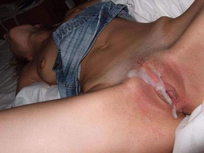 my cum on her pussy Porn Photo