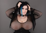 Goth with huge boobs