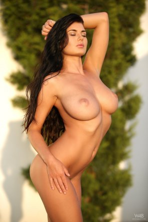 amateur photo Flawless brunette body