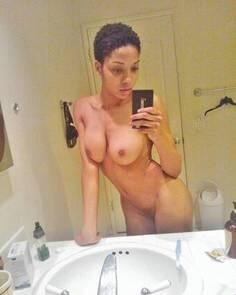 amateur photo Black short-hair Teen... Wow!