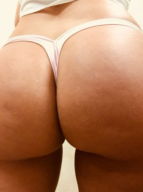 amateur photo Thong of the day!!! Light Pink v back thong, enjoy