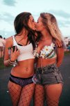 amateur photo Two girls kissing
