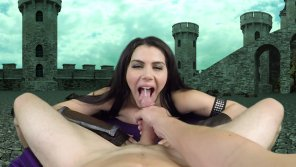 amateur photo Valentina Nappi armored up for the load