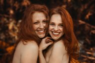 amateur photo A pair of freckled smiles