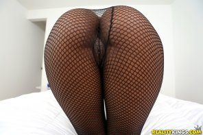 amateur photo Heart shaped ass in fishnets!