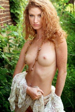 amateur photo Tough freckled redhead