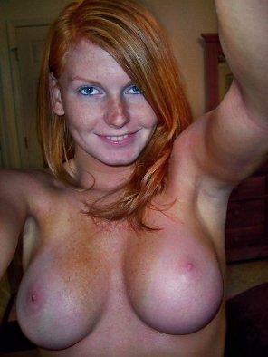 amateur photo redhead with nice boobies