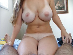 amateur photo She's got some real strong pecs