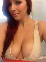 amateur photo Sexy Redhead Perfect Cleavage