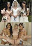 amateur photo Bride and bridesmaids