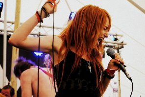 amateur photo Fiery ginger vocalist