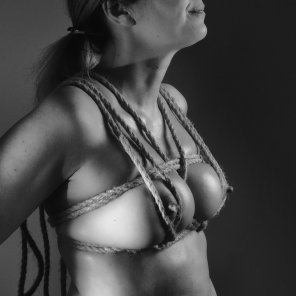 amateur photo Boobs shibari 2