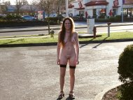 Naked outside Jack In The Box