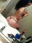 amateur photo Petite babe sitting on the bathroom counter.