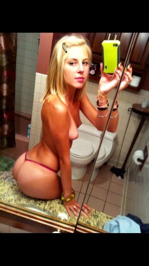 amateur photo Blonde, tan lines, and selfie? Check!