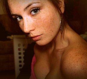 amateur photo Shoulder freckles beauty