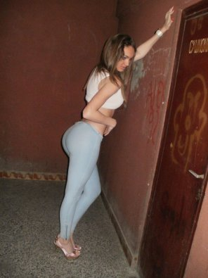 amateur photo Russian real girl flaunting her ass