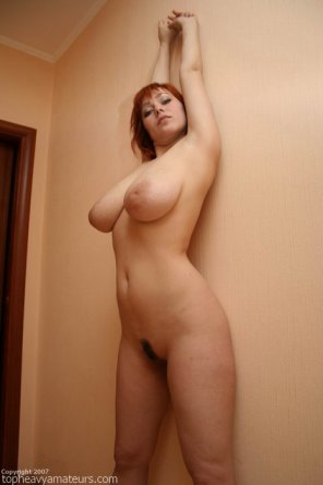 amateur photo Stacked redhead