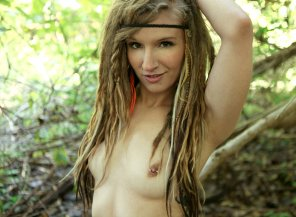 amateur photo Feral hotty in nature