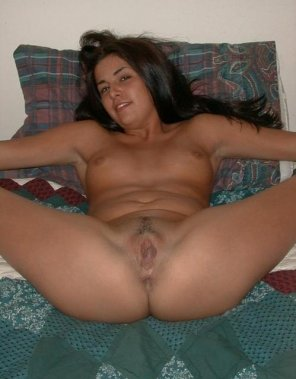 amateur photo Amateur spread on her bed