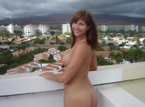 amateur photo Enjoying a view