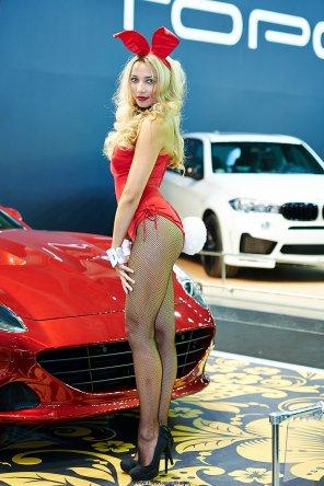 amateur photo Red Ferrari