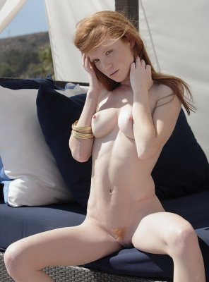 amateur photo Sexy young ginger with freckles