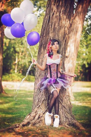 amateur photo Balloons And A Corset