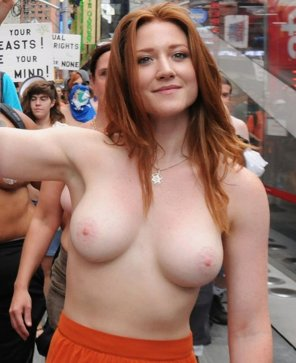 amateur photo NYC stages topless parade