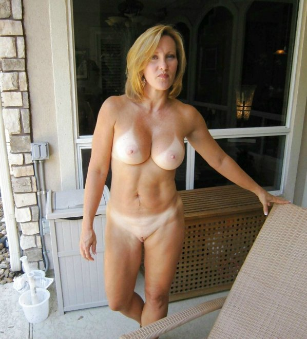 Milf with tanlines Porn Photo