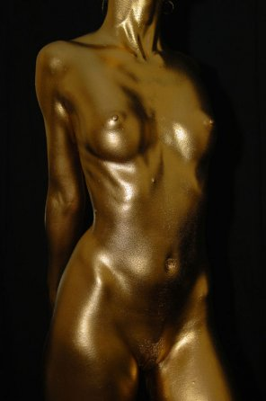amateur photo Golden girl