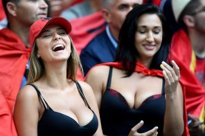 amateur photo Babes at a soccer match