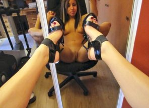 amateur photo her POV.