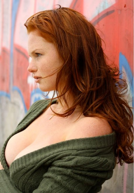 Green sweater Porn Photo