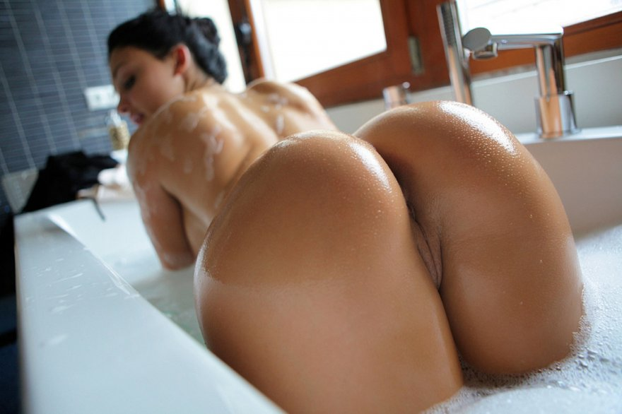 Aletta Ocean's Gorgeous Ass in the Bath Porn Photo