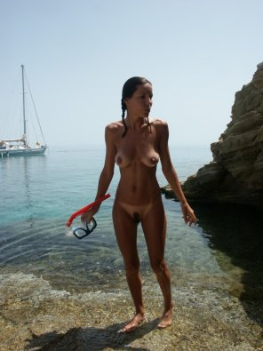 amateur photo Sexy snorkeler